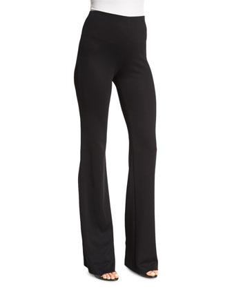 Fluid High-Waist Pants, Black