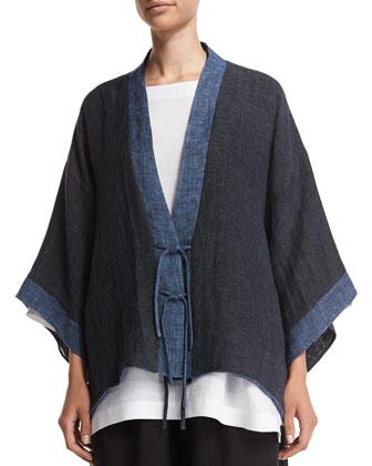 Shanghai Two-Tone Jacket, Jean Mix