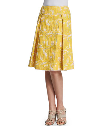 Pleated A-Line Skirt, Marigold