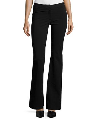 Alana Flare-Leg Pants, Black