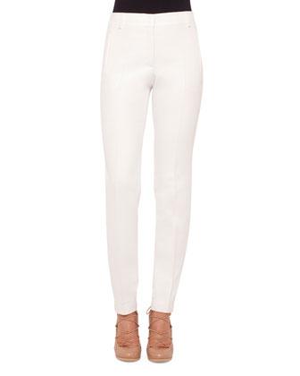Zip-Front Long-Sleeve Jacket, Short-Sleeve Contrast-Trim Blouse & ...