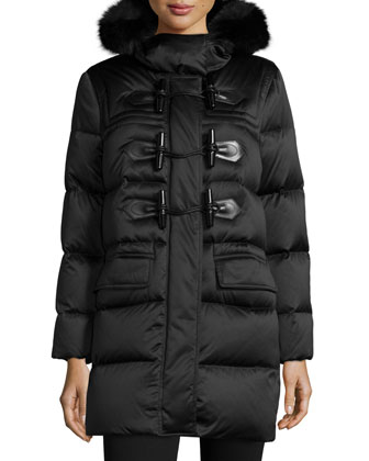 Altberry Duffle Puffer Coat with Fur Hood