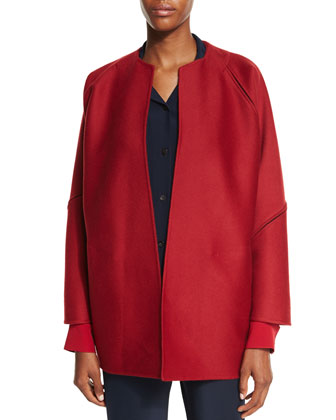 Zimmer Open-Front Jacket, Red