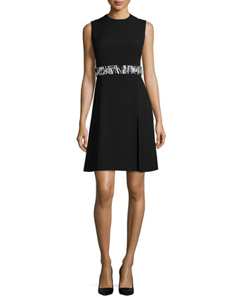 Sleeveless Dress W/Removable Belt, Black