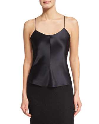 V-Neck Bias Camisole, Black