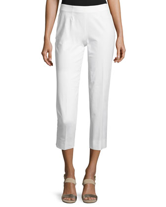 Audrey Cropped Pants, White