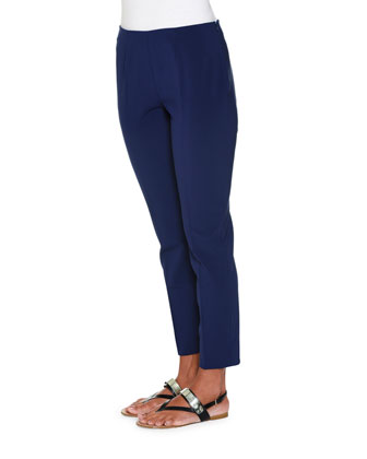 New Skinny Side-Zip Pants, Ink Blue