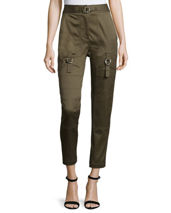 High-Waist Skinny Cargo Pants, Tank