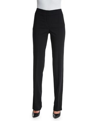Madison Straight-Leg Pants, Black