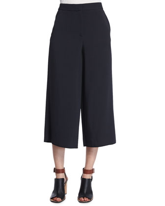 V-Neck A-Line Camisole & Tailored Culotte Pants