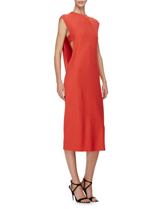 Sleeveless Sheath Midi Dress, Amber