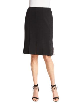 Milano Knit Carwash Skirt, Caviar