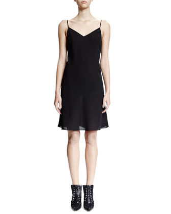 Sleeveless Slip Dress, Black