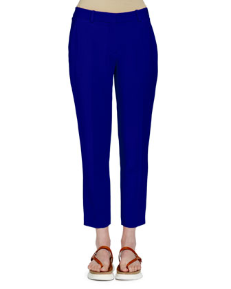 Ankle-Grazer Classic Pants, Blue Bird