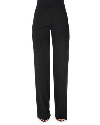 Marilyn Straight-Leg Pants, Black