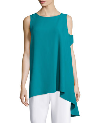 Three Arm Bandit Asymmetric Tunic, Teal