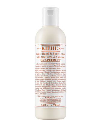 Grapefruit Deluxe Hand & Body Lotion with Aloe Vera & Oatmeal, 8.4 ...
