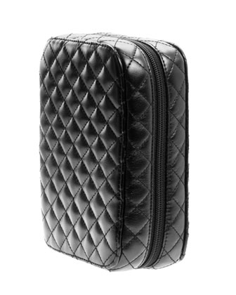 Classic Black Quilted Makeup Planner