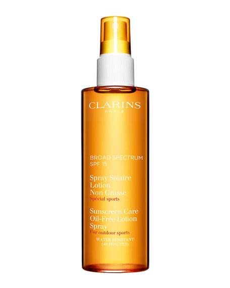 Clarins Sunscreen Spray Oil-Free Lotion Progressive Tanning SPF