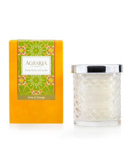 Agraria Lime and Orange Blossom Cane Candle