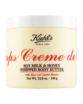 Crème de Corps Soy Milk & Honey Whipped Body Butter, 12.0 oz. ...