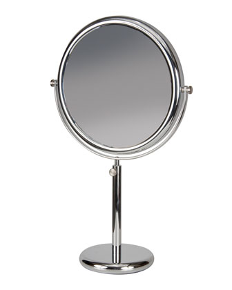 Vanity Stand Chrome Double-Side Mirror