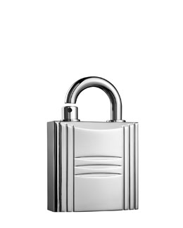 Hermes Refillable Lock Spray, Silver Tone