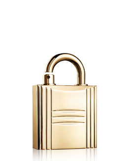 Hermes Refillable Lock Spray, Gold Tone