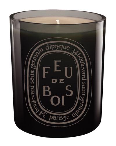 Gray Feu de Bois Scented Candle