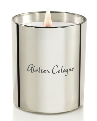 Silver Iris Candle