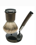 Collezione Barbiere Deluxe Shaving Stand with Brush and Razor