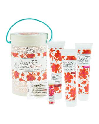 Field & Flowers Bath Goods Sampling Kit