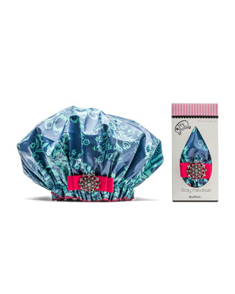 Designer Shower Cap, Blue-tiful