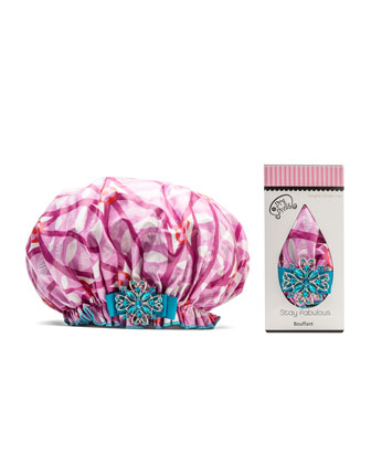 Designer Shower Cap, O'Raspberry