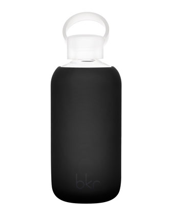 Glass Water Bottle, Jet, 500 mL