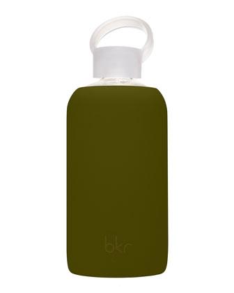 Glass Water Bottle, Moss, 1L