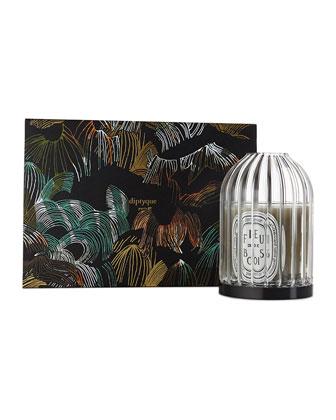 Limited Edition Set of Candle Holder + Feu de Bois, 6.5 oz. ...