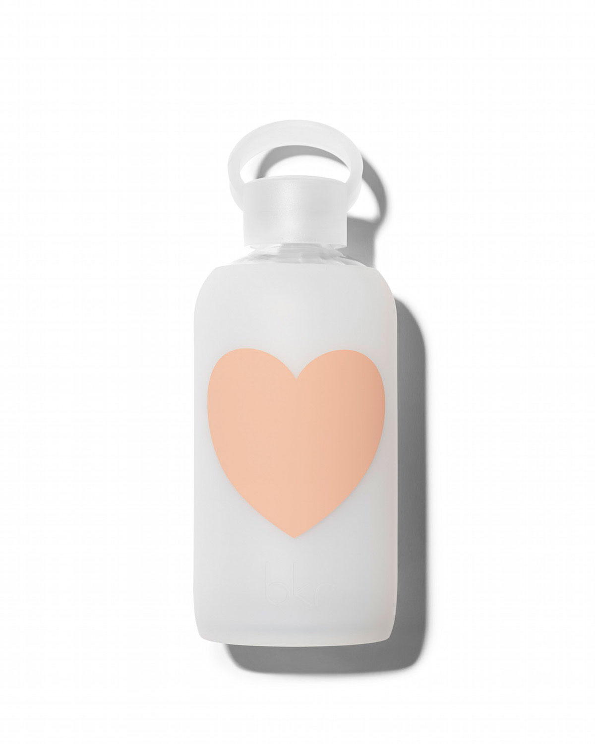 Glass Water Bottle, Momo Heart, 500 mL - bkr