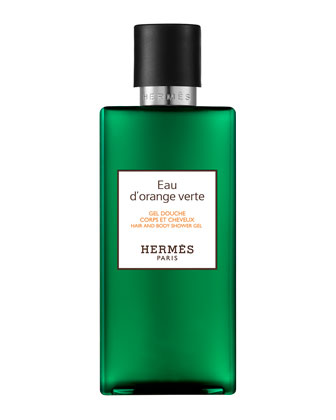Herm�s Eau d'orange vert Hair and Body Shower Gel, 6.7 oz.