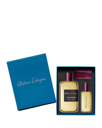 Engravable Gold Leather Ecrin Absolue, 200 mL with complimentary 30mL