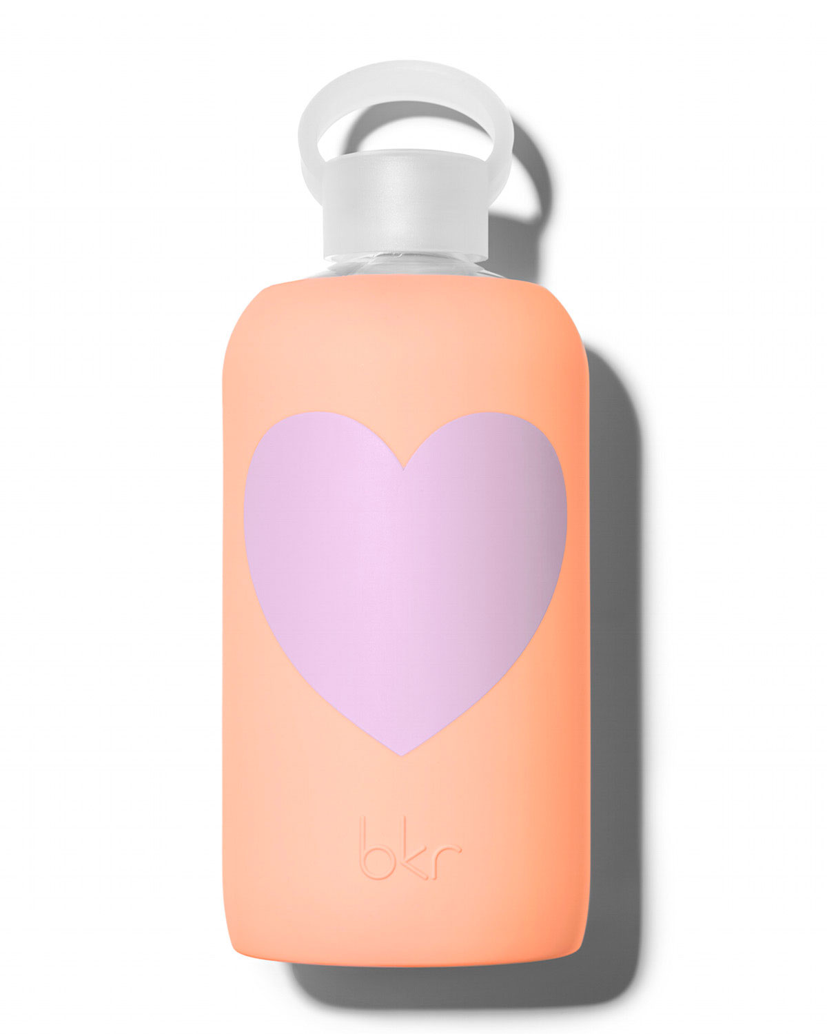 Glass Water Bottle, Sweet Heart, 1L - bkr