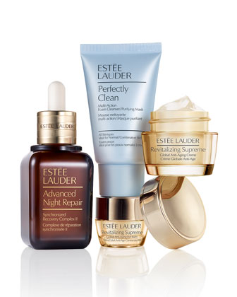 Limited Edition Global Anti-Aging Set with Full-Size Advanced Night Repair, ...