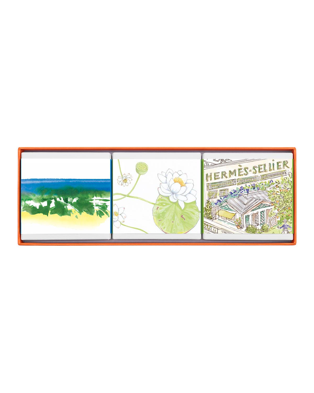 Limited Edition Gift Set Comprised of 3 Garden Soaps - HERMÈS