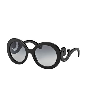 Baroque Sunglasses, Black