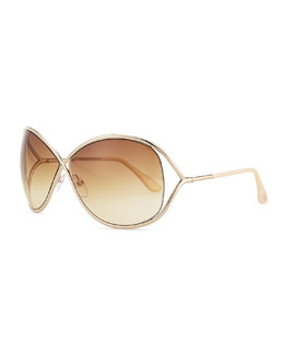 Tom Ford Miranda Sunglasses, Golden