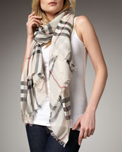 Trench Check Stole
