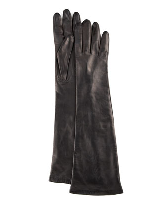 Elbow-Length Leather Gloves