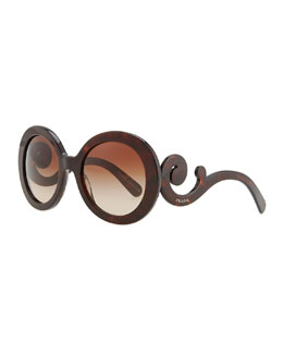 Prada Baroque Sunglasses, Brown