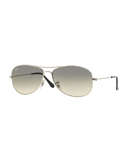 Ray-Ban Aviator Sunglasses, Silver