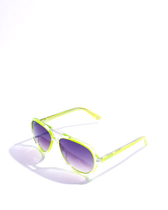 Caicos Sunglasses, Lime or Fuchsia